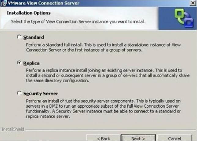 VMware_view_high_availability4 Capítulo 2: Instalación de Conexión Server Réplica