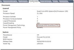 AMD VMware Dynamic Voltage Frequency