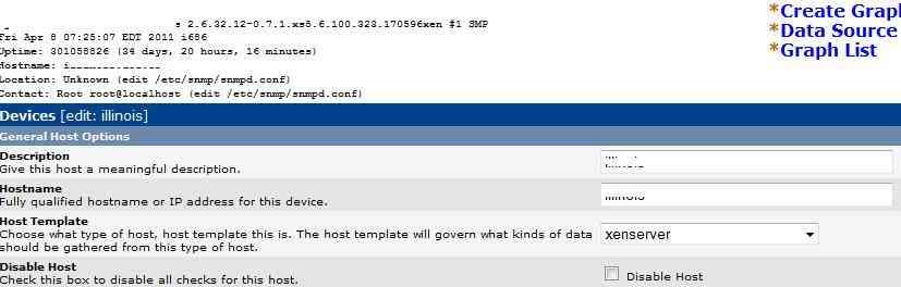 Configurando una RRDtool para XenServer