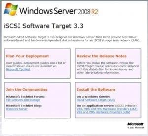 Windows 2008 R2 iSCSI Blog Virtualización