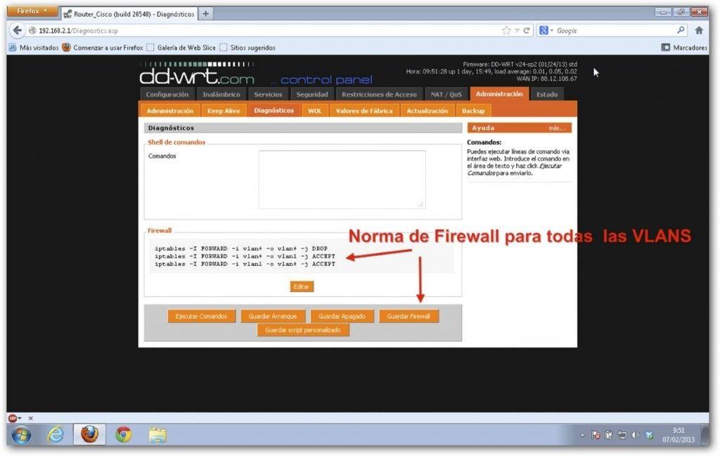 Lab Red Casero VMware diagnostico