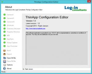 ThinApp Configuration Editor