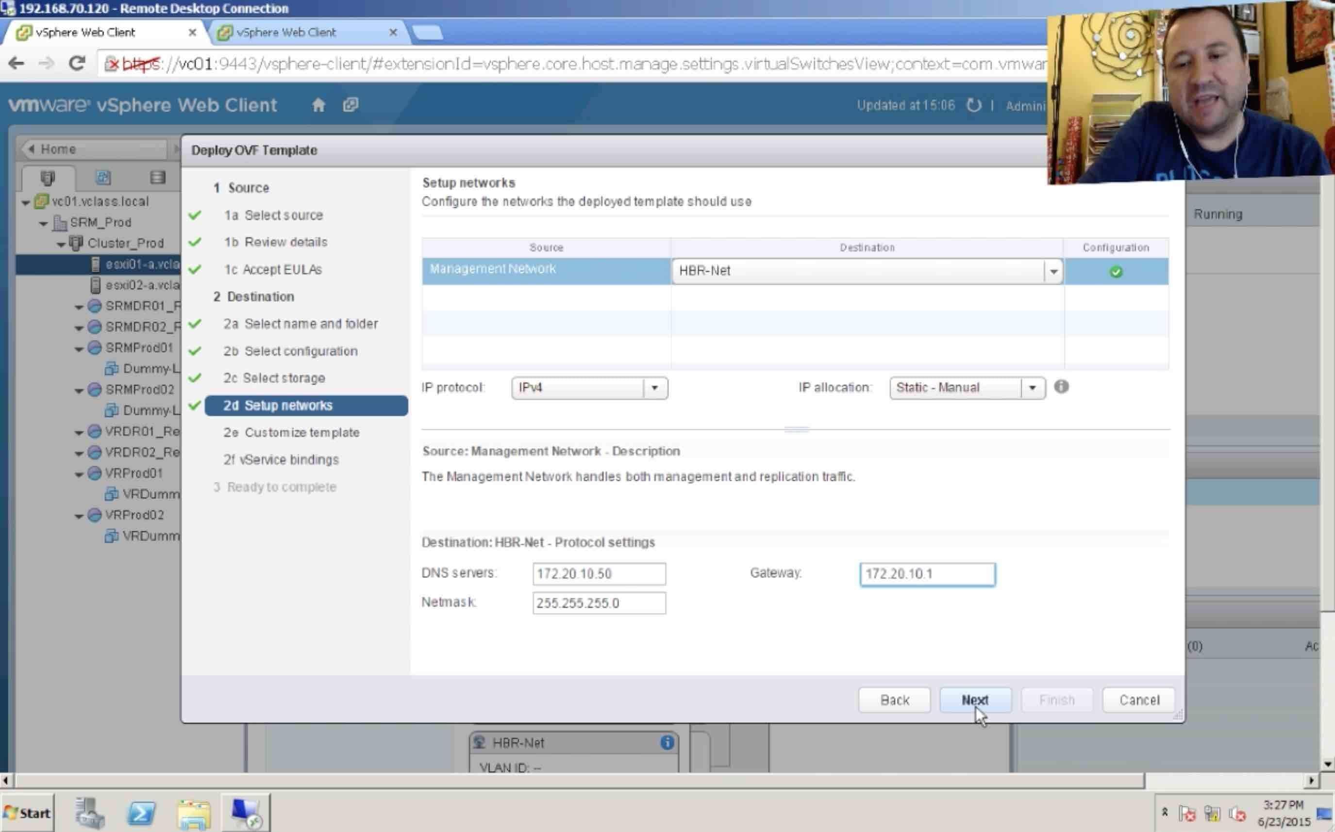 ¿Cómo crear un plan de contingencia con VMware vSphere? Parte 2/5
