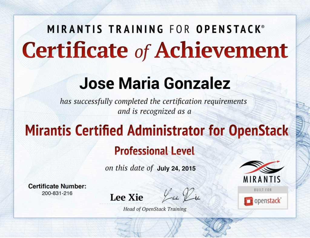 OpenStack-Mirantis-Certificado-Oficial-Jose-Maria-Gonzalez