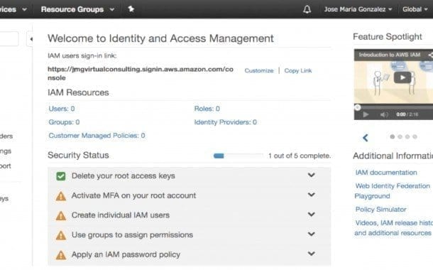 ¿Como configurar Amazon Identity Access Manager? Parte 1/3