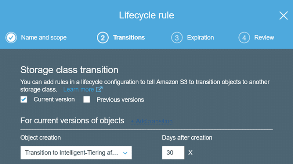 Amazon S3 Intelligent Tiering